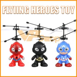 Toy airplane flies online shopping - Flying Heroes Toy Batman Spiderman Captain America Flying Aircraft Helicopter Toys Infrared Induction Drone RC Airplane for Kids Children