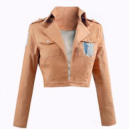 $enCountryForm.capitalKeyWord Australia - Attack on Titan Jacket Shingeki No Kyojin Jacket Legion Cosplay Costume Jacket Coat Any Size High Quality Eren NEW Trendy Plus Size S-XXL