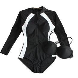 $enCountryForm.capitalKeyWord UK - Women Long Sleeve One Piece Swimwear Sexy Push Up Female Swimsuit Sport Slim Underwire Bathing Suit Swimming Beach Wear 2019 New