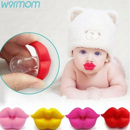 funny lips UK - WARMOM Red Kiss Lips Baby Pacifier New Baby Pacifier 1PC Funny Soft Silicone 0-3 Year Safe Non-toxic Material Oral Care Zu1Y#