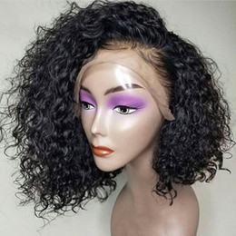 $enCountryForm.capitalKeyWord Australia - Human Hair Lace Front Bob Wigs Brazilian Curly Short Full Lace Wig with Baby Hair Side Part Glueless Lace Front Wig for Women