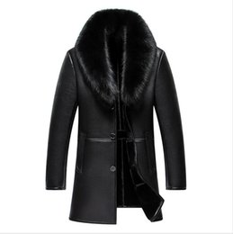 $enCountryForm.capitalKeyWord UK - Men's Winter Leather Jacket New Arrival Long Real Big Fur Collar High Quality Thick Warm Leather Men Coat