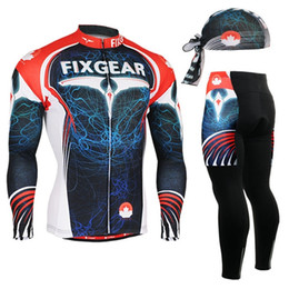 Life Gel Australia - Life on Track men Cycling Jersey Set Long Sleeve Jacket Pants Breathable 3D Gel Clothing MTB Road Bike Bicycle Cycling Jersey #960383