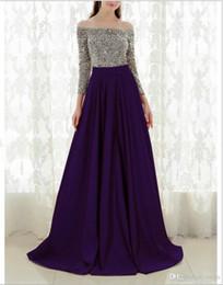 Club swing online shopping - 2018 European and American ladies fashion long sleeved silk stitching large swing dress skirt evening dress dress