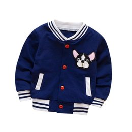 Wholesale Fashion Baby Boy Jacket Boys clothes Autumn Children Boys Girls Garment Baby Buttons Jacket Kids Pattern Clothes