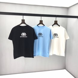 2020ss spring and summer new high grade cotton printing short sleeve round neck panel T-Shirt Size: m-l-xl-xxl-xxxl Color: black white cb11 on Sale