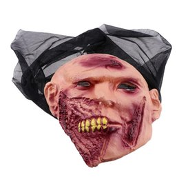 Rubber Face Mask For Halloween NZ - 60x40CM Ghost Mask Reusable Creative Horror Decorative Rubber Grimace Mask Scary for Halloween Masquerade Parties