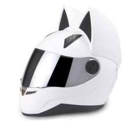 $enCountryForm.capitalKeyWord Australia - Motorcycle helmet 2018 cat ear personality all-wool helmet 4 colors pink yellow black white