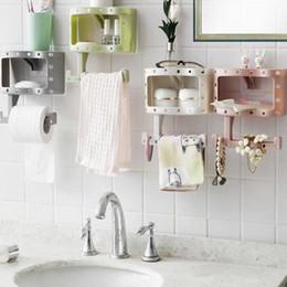 $enCountryForm.capitalKeyWord Australia - Brand New Plastic Bathroom Toilet Phone Paper Holder with Shelf Bathroom Tool Tissue Mobile Phones Towel Rack Toilet Roll