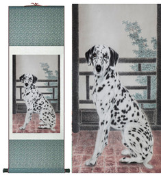 Silk Painting Fashion Australia - Dog Silk Art Painting Chinese Art Painting Home Office Decoration Chinese Cute Dog Painting1906151610