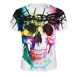 $enCountryForm.capitalKeyWord UK - 2018 Fashion New Women Tees Short T-shirt Skull Red Lips 3D Digital Printing Women's T-shirt