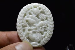 $enCountryForm.capitalKeyWord Australia - Fine Jewelry Chinese New natural White jade carved amulet Pendant Necklace Dragon Free Shipping