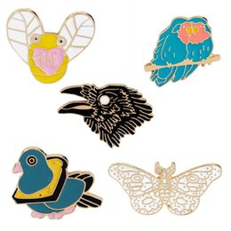 e4749d10958 EaglE broochEs online shopping - Cartoon Animal Brooch Butterflies Eagle  Bee Bird Badges for Backpack Hard