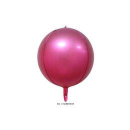 $enCountryForm.capitalKeyWord Australia - Gradient Metal Balloon Aluminum Film 4D Color Balloon Rainbow Ball Children's Toys Birthday Party Home Decoration Balloons 22 Inch