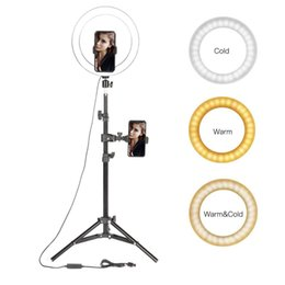"selfie tripod stand 2020 - onsumer Electronics 10"" LED Light Photographic Selfie Ring Lighting with Stand for Smartphone Youtube Makeup Video"