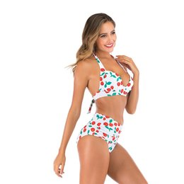mermaid bathing suit women UK - 2020 Women Mermaid Swimwear Swimsuit High Waist Beach Bathing Suit Bikinis Set Swimwear Biquini Summer Beachwear Beach Outwear#491