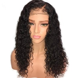 $enCountryForm.capitalKeyWord Australia - Water Wave Curly Wigs For African Americans,Virgin Brazilian Human Hair Lace Front Wigs Glueless Full Lace Wigs For Black Women