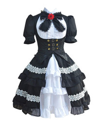 date live cosplay UK - Date A Live Tokisaki Kurumi Gothic Lolita Palace Dress Halloween Cosplay Costume