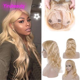 Blonde Human Lace Fronts Australia - Indian Virgin Hair Lace Front Wig 8-28inch 613# Color Body Wave Lace Front Wigs Blonde Human Hair Lace Wig Wholesale