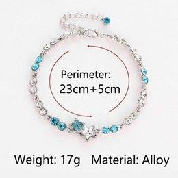 Discount fish hook pendants - New Charm Bracelet Ocean Series Blue Starfish Pendant For Women Austrian Crystal Bracelets Bangles Fashion Wedding Jewel