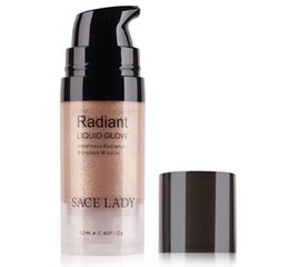 Face Glow Cream Australia - SACE LADY Illuminator Makeup Highlighter Cream Face Brighten Professional Shimmer Make Up Liquid Glow Kit Brand Cosmetic