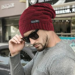 men crochet beanie hat Canada - Unisex Knitted Hats New Hat Casual Beanies For Men Women Fashion Hip-hop Oversized Stretchy Male Crochet Ski Beanie Cap