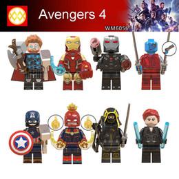 Hulk Block Figure Australia - Avengers 4 Loki Black Pather Iron Man Tony Stark Hulk Thanos Thor Vision Mini Toy Figure Building Block Assebmle Blocks kids toys