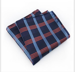 Scarf Square Cotton Australia - The second new pocket Scarf Jacquard fabric for men's small square scarf leisure fashion striped chest scarf