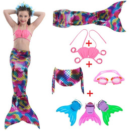 White Tail Cosplay Australia - Girl's Mermaid Tails For Swimming Costume With Kid Zeemeerminstaart Cola De Sirena Cauda De Sereia Cosplay