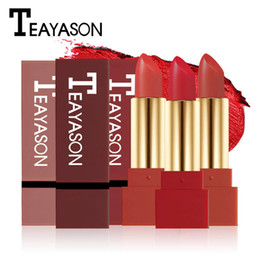 Lipstick pen makeup online shopping - TEAYASON Brand Waterproof Matte Lipstick Pen For Women Long Lasting Batom Dark Red Velvet Balm Rouce a Levre Natural Makeup Lip Stick