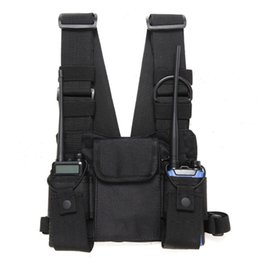 $enCountryForm.capitalKeyWord UK - Chest Harness Front Pack Pouch Holster Vest Rig Carry for Two Way Radio Walkie Talkies Chest Harness Front Pack Pouch