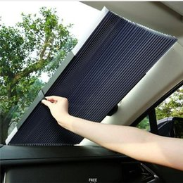 car window foil NZ - Car Retractable windshield Sun Shade Block sunshade cover Front Rear window foil Curtain for Solar UV protect 46 65 70cm