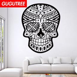$enCountryForm.capitalKeyWord Australia - Decorate Home skull cartoon art wall sticker decoration Decals mural painting Removable Decor Wallpaper G-1932