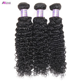 Discount curly brazilian virgin hair wefts - Brazilian Hair Extensions 3Pcs lot 8A Unprocessed Human Hair Bundles Weaves Peruvian Kinky Curly Virgin Hair Wefts Whole
