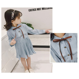 $enCountryForm.capitalKeyWord Australia - Baby Spring and Autumn Girl Dress Splicing Mesh Tutu Child Bow Long Sleeve Girl Princess Dress Knit Cute Sweet