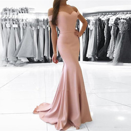 robe soiree arabic 2019 - Robe De Soiree 2019 Evening Dresses Mermaid Off the Shoulder Dubai Saudi Arabic Women Formal Prom Gown Party Dress cheap