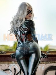 Female Costumes For Men Australia - uperhero costume Newest Black Cat Symbiote Female Costume Spidey Cosplay Halloween Spider-man Superhero Costumes For Adult Kids Free Shi...