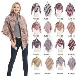 $enCountryForm.capitalKeyWord Australia - Women Designer Scarf Colorful Plaid Oversize Scarves Pashmina Shawl Wraps Double Faced Use Ring Scarf Blanket 8 Colors