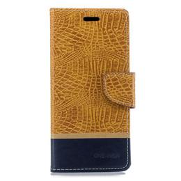 Filp Wallet Case Australia - Splice Color Wallet Case For Samsung Galaxy J4 Plus Filp Cover Crocodile pattern PU Leather Mobile Phone Bags Latest fashion