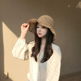 hot spring covers Australia - 2019 new hot sale comfortable leisure sunscreen female tide fashion cover face fisherman hat wild beach small fresh straw hat