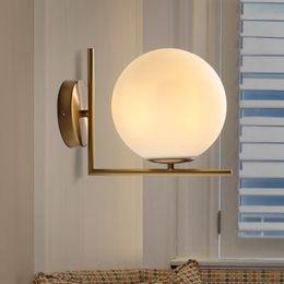 Switch Gate Australia - Modern Glass Ball Wall Lamp For Bedroom Room Bathroom Fixtures Hallway Gate Home Lights Coffee Restaurant Stairs Decor Wandlamp