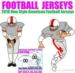 Опт Персонализированные американский футбол трикотажные изделия пользовательские Теннесси Денвер колледж подлинный дешевый бейсбол баскетбол мужская женская молодежь США 4XL серебро