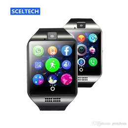 Wristwatch Sim Card Australia - Q18 smart watch Bluetooth Watches Wristwatch with Camera TF SIM Card Slot Pedometer Answer Call with Box for Android IOS iPhone Samsung