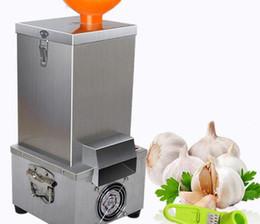 $enCountryForm.capitalKeyWord Australia - Wholesale free shipping 24kg h Stainless Steel 180w Commercial Garlic Peeling Machine Electric Garlic Peeler 2019 New Arrival