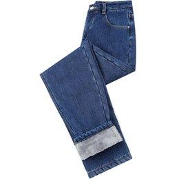 ce33caac29d Plus Velvet Thicker Women Jeans Warm High Waist Trousers Cowboy Pants Denim  Jeans Pants Winter Pencil Plus Size  518015