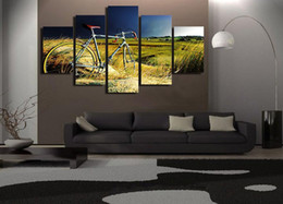 $enCountryForm.capitalKeyWord Canada - Vintage Bicycle In The Storm,5 Pieces Home Decor HD Printed Modern Art Painting on Canvas (Unframed Framed)
