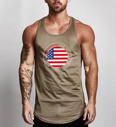 8a2d805823823b 2019 Fashion Bodybuilding clothing Fitness Men s Tank Top Print Gym Vest  Stringer Muscleguys Singlets Sleeveless Undershirt FLAG