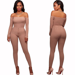 $enCountryForm.capitalKeyWord Australia - 2017 New Women Elegant Winter Jumpsuits Knitted Ribbed Long Sleeve Off Shoulder Casual Rompers Sexy Club Wear Bodycon Jumpsuit Y19060501