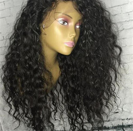 Silk Top Curly Human Hair Wig Australia - Kinky Curly Malaysian Human Hair 5*4.5'' Silk Base Wig Lace Front Wig Curly Silk Top Glueless Full Lace Wig with Baby Hair