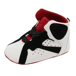 27776c7d86d8f Marque Bébé Sport Chaussures En Cuir PU Nouveau-Né Garçons Filles Première  Walker Infant Prewalker Sport Chaussures Baskets